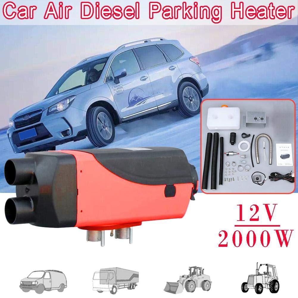 Funihut 12 V/24 V 2000 W calefacción Diesel de Aire para automóvil, Ambiente máquina termostato LCD Mando a Distancia Cristal líquido para la Caravana, ...