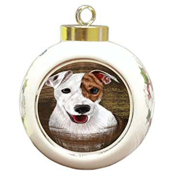 Doggie of the Day Rustic Jack Russell Terrier Dog Round Ball Christmas  Ornament RBPOR50424 - Amazon.com: Doggie Of The Day Rustic Jack Russell Terrier Dog Round