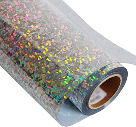 hoho] holográfica papel de transferencia de calor vinilo hojas con purpurina para DIY camisetas adhesivo 20