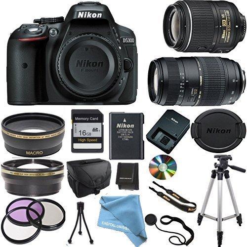 Nikon D5300 Camera Body with Nikon 18-55 VR Lens, Tamron 70-