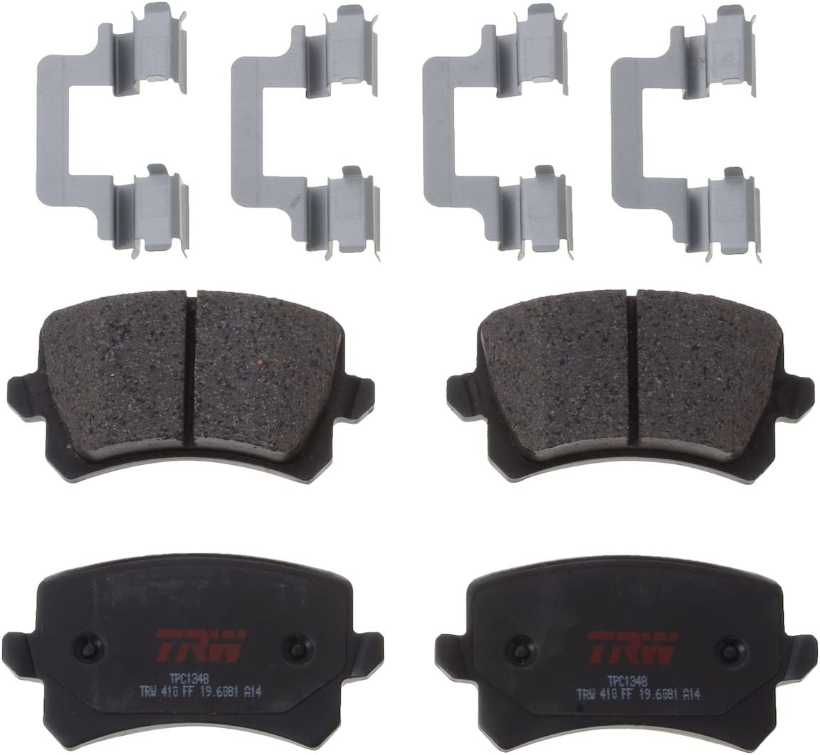 Audi Quattro Q3 VW Tiguan Passat Ceramic Brake Pad Set /& Sensor Shims Front TRW