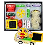 electronics kit make - Winkeyes Electronic Circuits Building Blocks, Science Kit, Electronics Kit with Experiments Discovery for Kids, DIY Educational Circuit Board Learning Toys with Sound Light