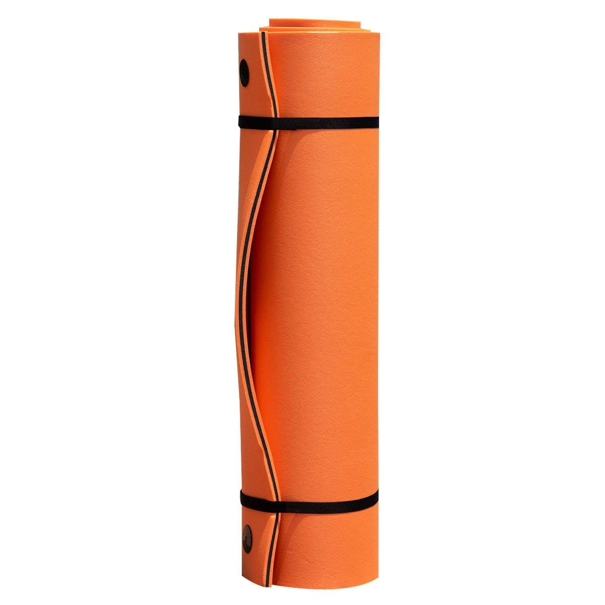 Goplus 12' x 6' Floating Water Pad for Lakes 3 Layer Floating Foam Mat Aqua Buoyancy Pad Designed for Water Recreation and Relaxing (Orange + Black) by Goplus (Image #8)