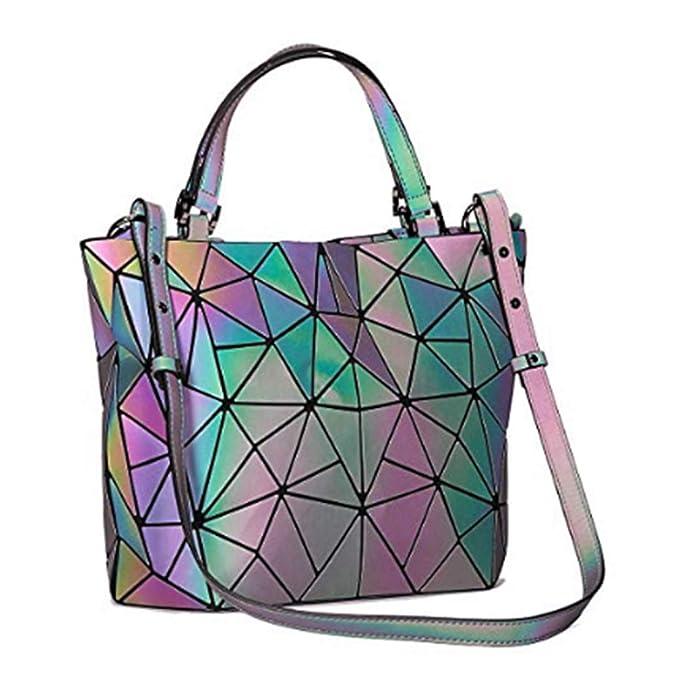 Amazon.com: Bolso luminoso geométrico para bolso de mano con ...