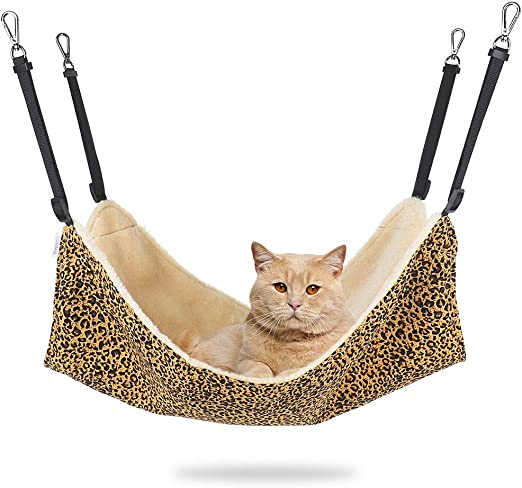 Vivi Bear cat Hammock Bed Comfortable durable washable All year round Hanging Pet Hammock Bed for Cats Small Dogs Rabbits Mink and other Small Animals 22 x 17 in 3 colors