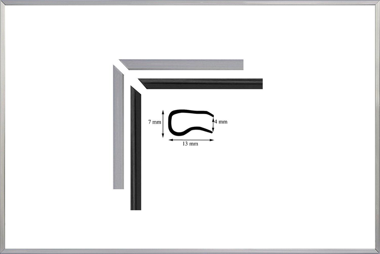 Teuto-Bilderrahmen 3 Stck. Klemmfix-Set Kleopatra 70 x 100 cm in Silber mit Acrylglas klar 1mm