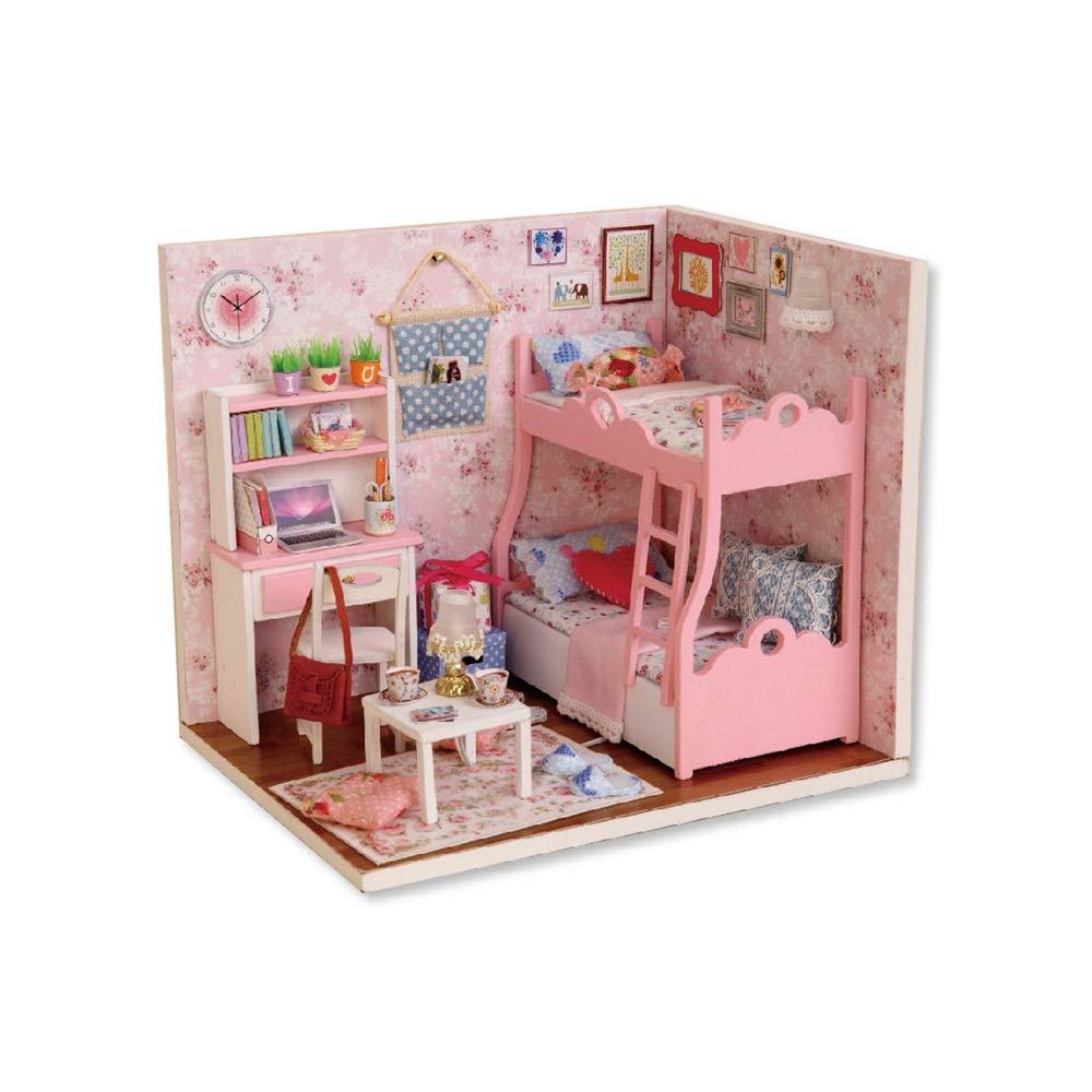 AUMING Puzzle Giocattoli Accessori Fatti a Mano della Stanza della casa delle Bambole di Legno Miniatura della casa delle Bambole con Il Regalo della Figlia