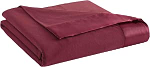 Thermee Micro Flannel Year-Round Sheet Blanket, Burgundy, King