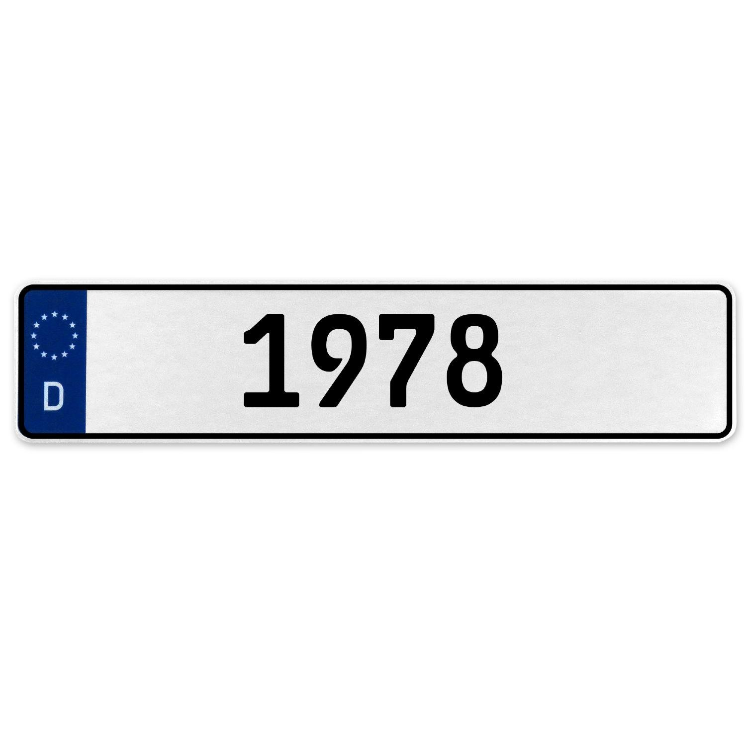 Vintage Parts 553385 1978 Year White Stamped Aluminum Deutschland License Plate