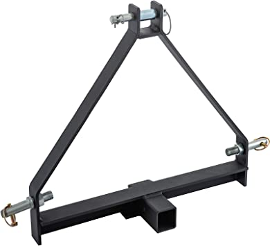 John Deere Cat LM25H WLM Tractor Yanmar 3 Point 2 Hitch Receiver Adapter for Farm Equipment and Standard Trailers,like Compact Sub-Compact Tractors BX Kubota NorTrac Kioti