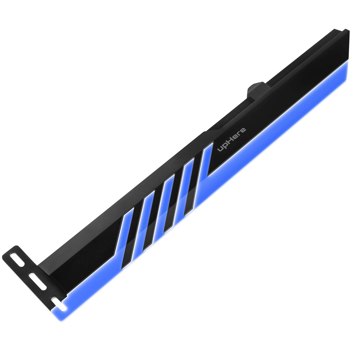 upHere Blue LED Graphics Card GPU Brace Support Video Card Sag Holder//Holster Bracket,Single or Dual Slot Cards GL28BE