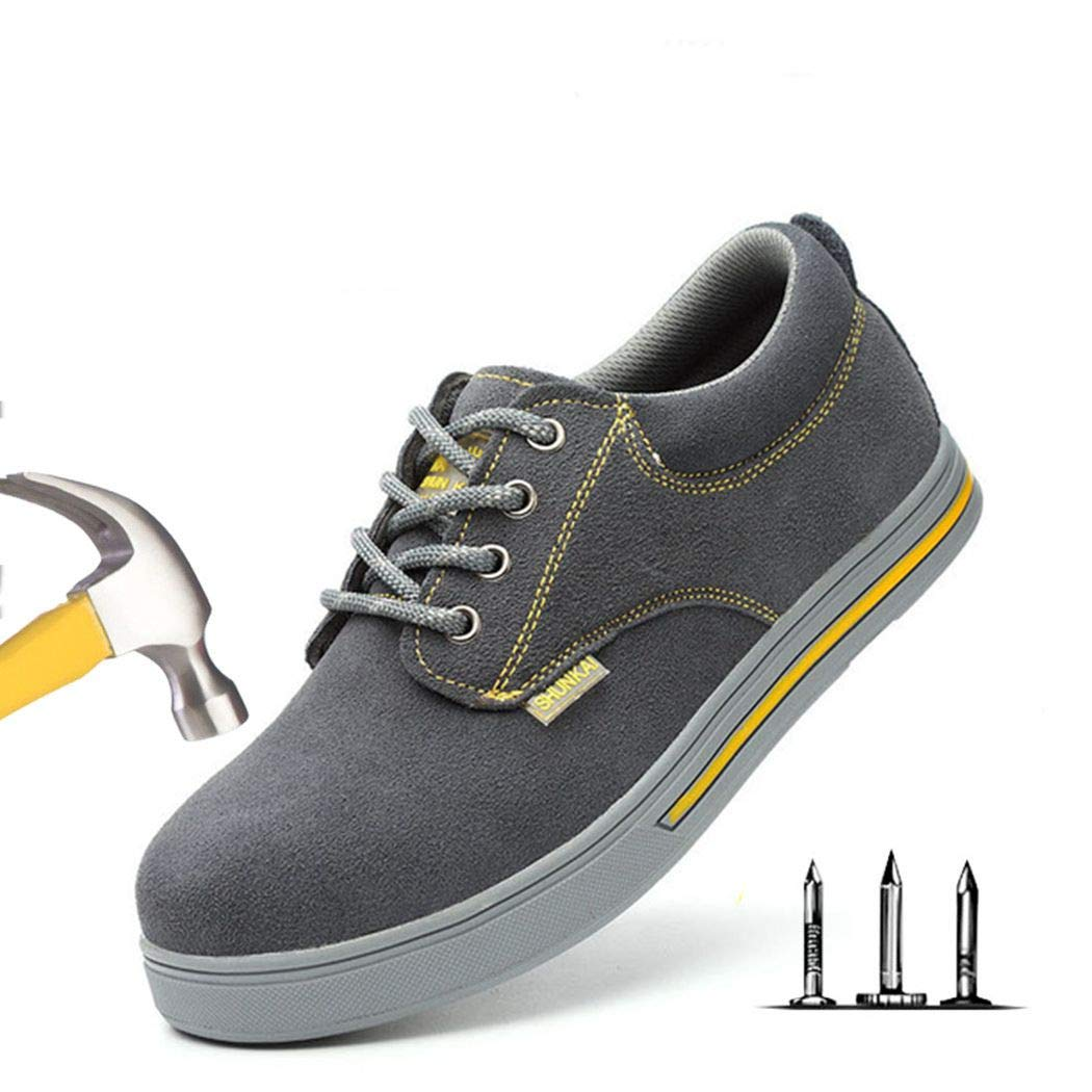 Safety Shoes Steel Toe Cap Summer Breathable Lightweight Anti-smashing Stab-resistant Casual Site Shoes
