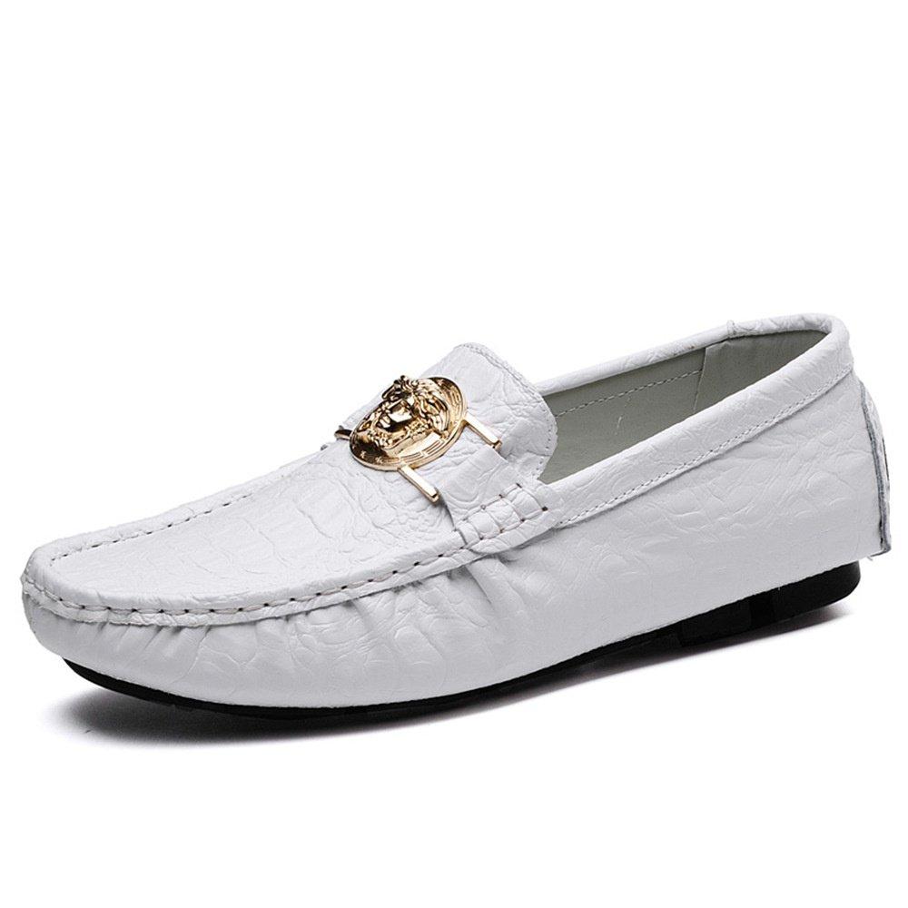 Herren weiches Fahren Loafers Slip flache Mokassins Leder