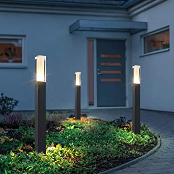GYBYB Nuevo estilo impermeable LED jardín césped lámpara moderna aluminio pilar luz exterior patio villa paisaje césped bolardos luz @ cool_white_1_27cm: Amazon.es: Iluminación