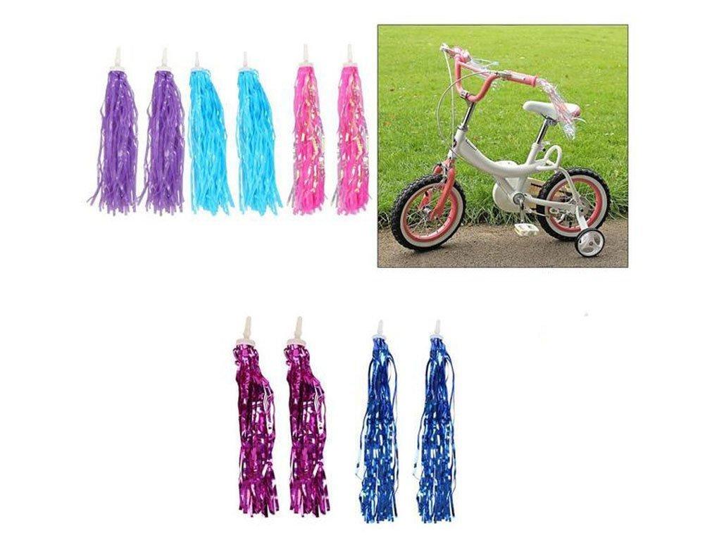 Pom-pom Pair Trike Scooter Handgrip Ribbon Retro Bicycle Grips Sparkle Tassel Ribbon Elandy 1 Pair Kids Bike Bicycle Handlebar Streamers