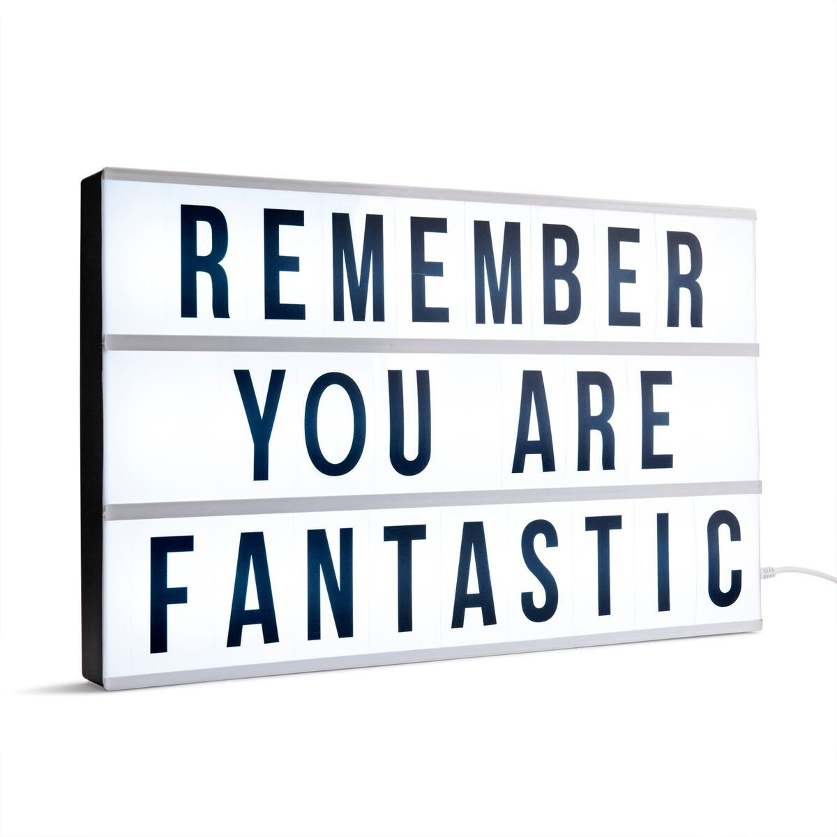 Premium Extra Large LED Cinematic Lightbox- Bigger Than A3 - Light up Box & Changeable Message Board with 85 Numbers, Letters and Characters for Signs, Quotes, Gifts, Weddings & Decorations Paramount Buy