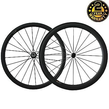 Youcan Bike - Ruedas de carbono 700C para bicicleta de carretera, llantas clincher, 38mm Al x 25 mm An, 3K Mate 20/24h: Amazon.es: Deportes y aire libre