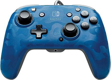 PDP - Mando Pro Deluxe Faceoff Chat Audio Camo Azul (Nintendo ...