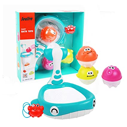 Purple  Bath Toy Preschool Baby Kid Child Pool Nuby Bathtime Fun Octopus Hoopla