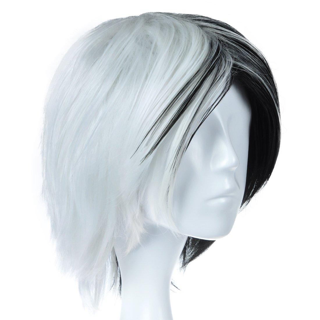 CoolChange Peluca de Monokuma de Dangan Ronpa Blanca y Negra