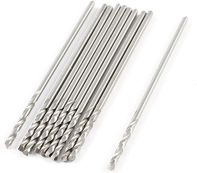 uxcell 0.8mm x 10mm x 30mm Drilling High Speed Steel Spiral Drill Bits 10 Pcs