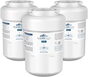 MWF Water Filter Replacement for GE Refrigerator, GLACIER FRESH NSF 42 Certified Cartridges Compatible with GE MWF SmartWater, MWFA, MWFP, GWF, GWFA, Kenmore 9991, 46-9991, HDX FMG-1, WFC1201, 3 Packs