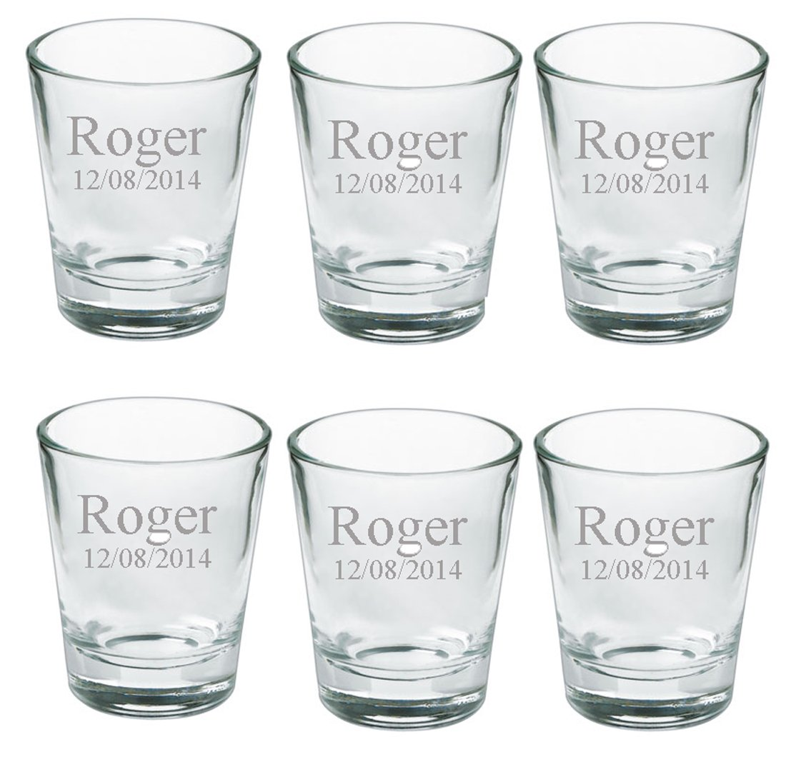 Amazon Gifts Infinity Personalized Set Of 6 Shot Glasses Free