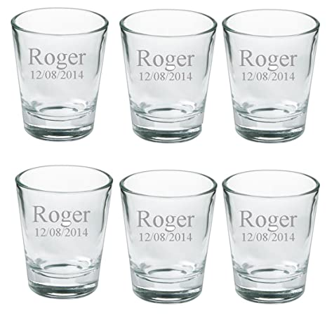amazon com gifts infinity personalized set of 6 shot glasses free