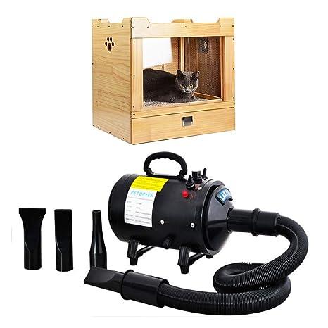 Secador De Mascotas Perro 2 Piezas Box Caja De Secado/Secador De Pelo) 2400w