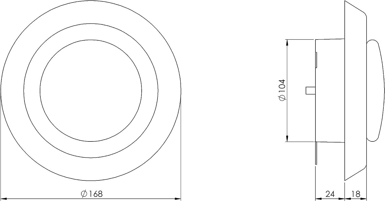 V/álvula de plato de 125 mm de di/ámetro con pinzas rejilla de ventilaci/ón aire de salida v/álvula de techo pl/ástico