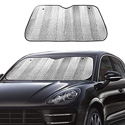 "Big Ant Car Windshield Sunshade UV Ray Reflector Auto Window Sun Shade Visor Shield Cover, Keeps Vehicle Cool- Sliver (55"" x 27.5""): Automotive"