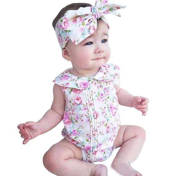 vestidos nina fiesta Switchali Recién nacido Bebé Niña verano Ropa floral mono moda encaje Mameluco Algodón