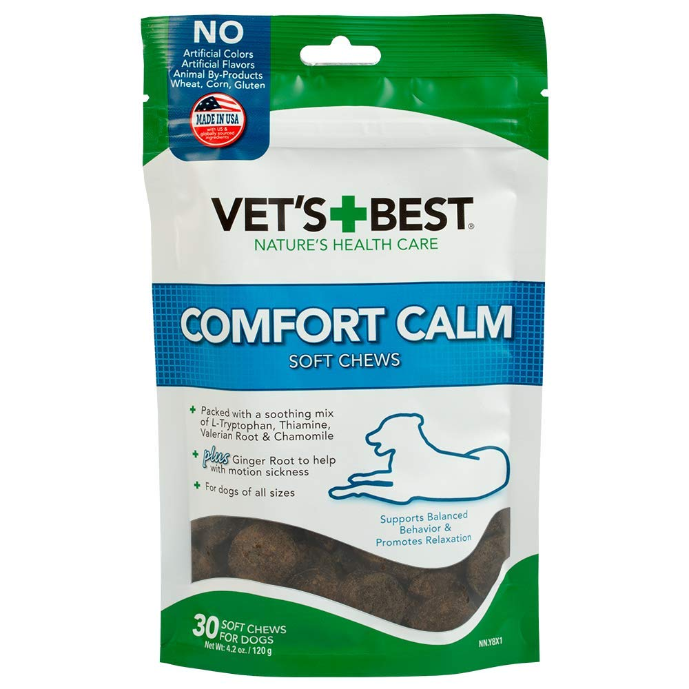 1 pack Vet's Best Comfort Calm Calming Soft Chews Dog Supplements, 30 Day Supply