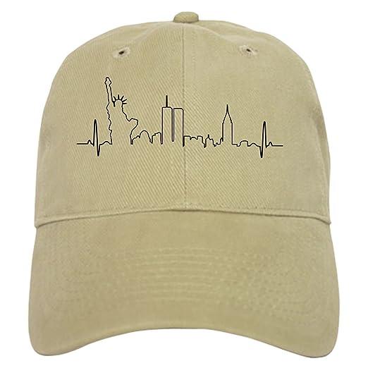 Amazon.com  CafePress - New York Heartbeat - Baseball Cap with Adjustable  Closure c246b41d98b