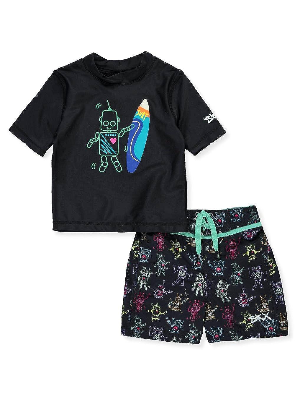 Skechers Baby Boys' Swim Suit Set with Rashgaurd Swim Shirt