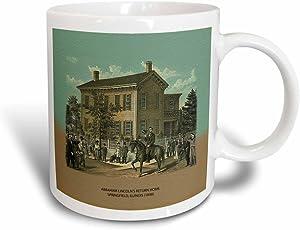 3dRose mug_55421_3 Abraham Lincolns Return Home Springfield, Illinois (1898) Magic Transforming Mug, 11-Ounce