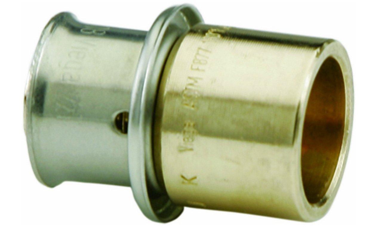 VIEGA 82006 Pureflow Bronze Pex Press Copper Tubing Adapter with Female 3/8'' x 1/2'' Press x Copper (3-Pack)