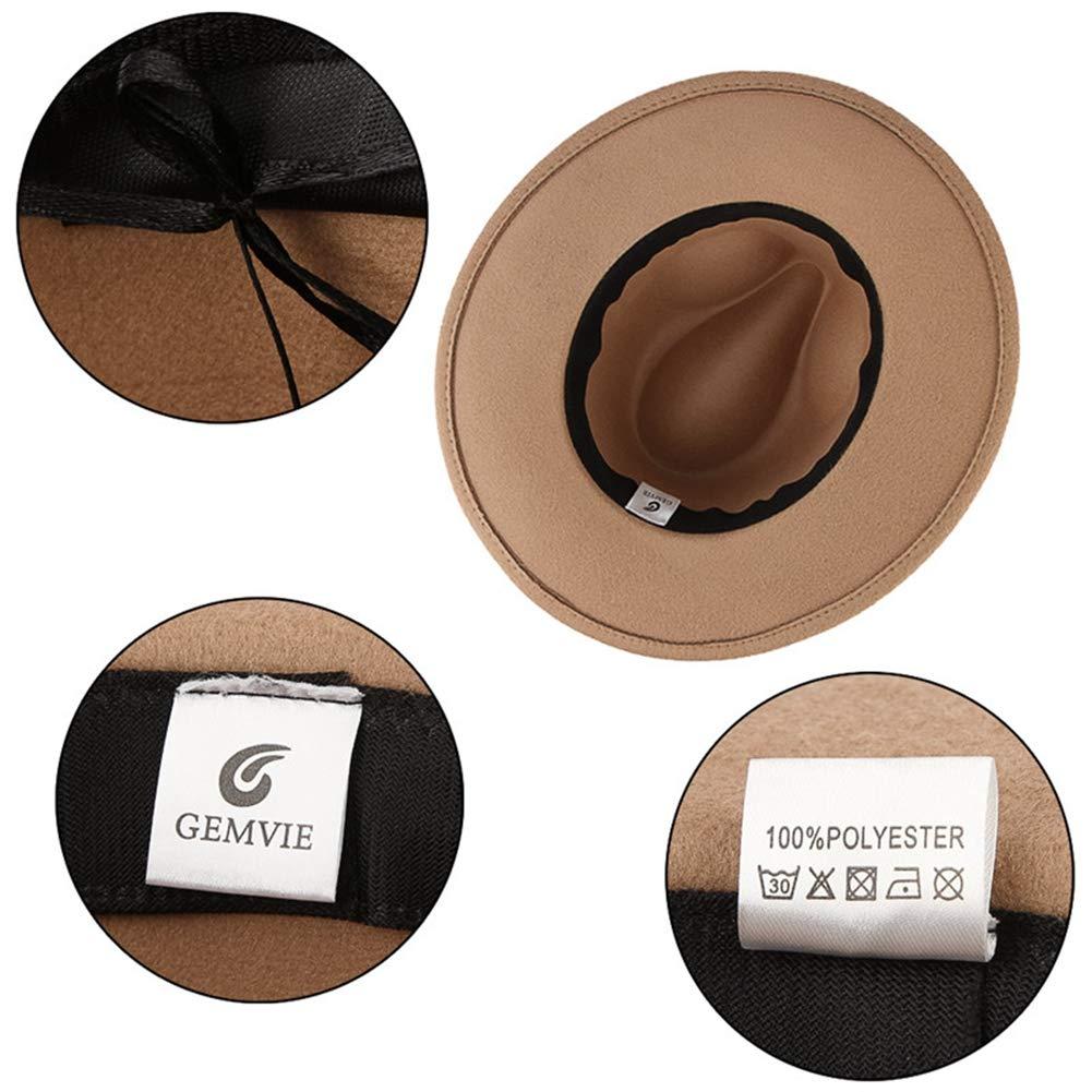 Unisex Classical Fedoras Hats Vintage Wide Brim Jazz Cap Fashion Leopard Ribbon