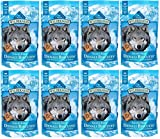 BLUE BUFFALO WILDERNESS DENALI BISCUITS GRAIN FREE DOG TREATS USA MADE SALMON VENISON HALIBUT ALL SIZES (8 Bags)