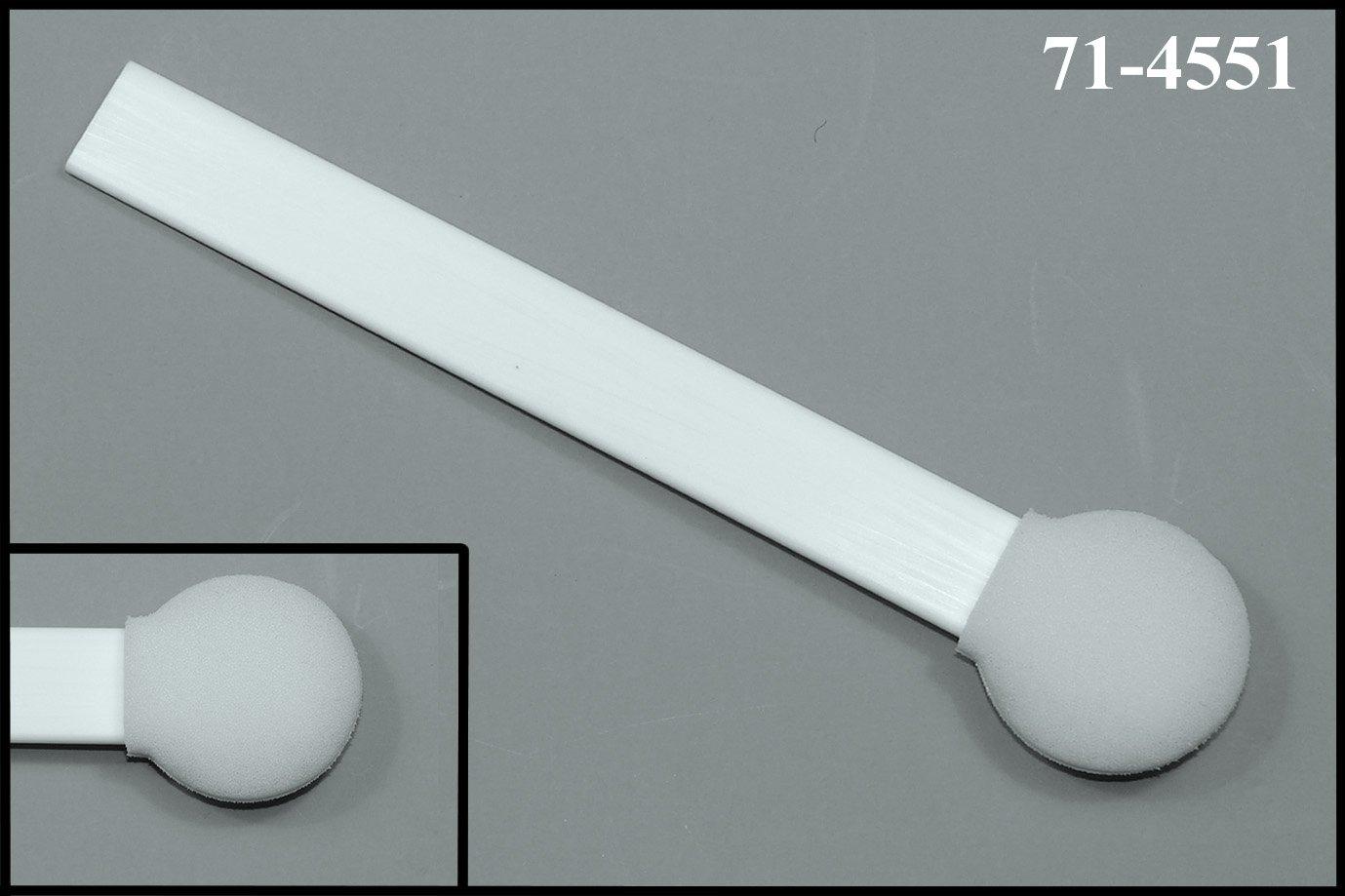 (Bag of 50 Swabs) 6'' Flat Handle with 1.2'' Diameter Mitt Foam Swab: 71-4551