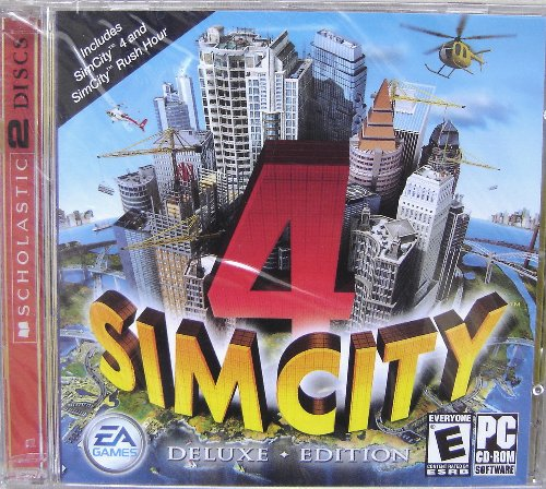 SimCity 4 Deluxe Edition PC CD-Rom (4 Sim City Download)