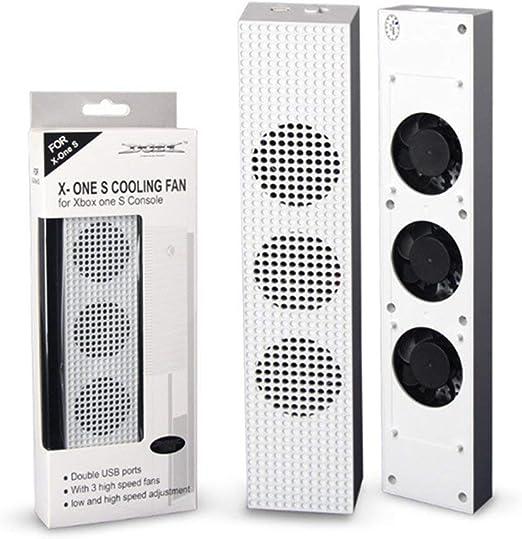 para Ventilador de enfriamiento Xbox One S con 2 Puertos USB Hub y ...
