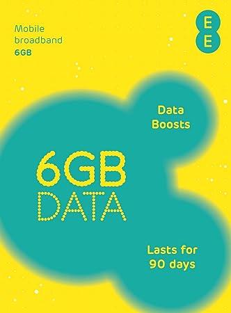 EE PAYG - Tarjeta SIM precargado con 6 GB de Datos 4GEE (SIM estándar, Micro SIM, Nano SIM) (Importado de Reino Unido)