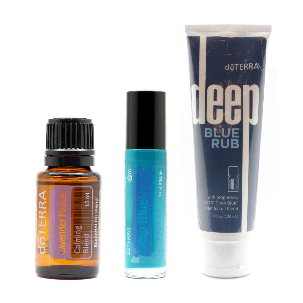 doTERRA New Combo Pack - Lavender Peace 15ml + Deep Blue Roll On 10ml + Deep blue Rub 120ml –100% authentic + FREE Expedited Shipping