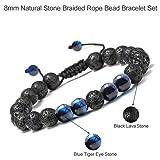 M MOOHAM Natural Bead Bracelet, 8mm Gem Semi