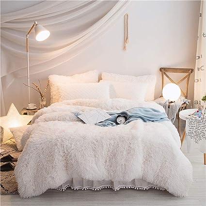 Amazon.com: Lakebay Fluffy Bedding Sets Velvet Flannel 3PCS Duvet ...