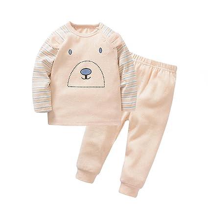 Recién nacido de ropa para el hogar de otoño e invierno párrafo niños engrosamiento de algodón