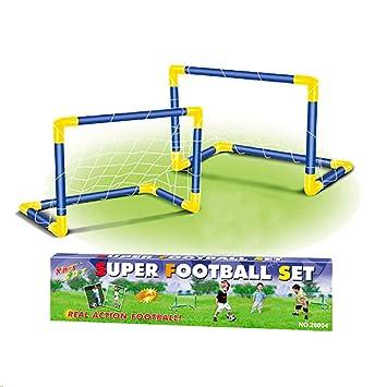 Tachan- Doble Portería Fútbol con Balón e Hinchador, Color Rojo y ...