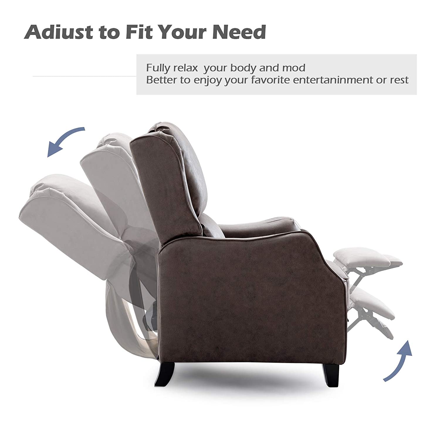 Amazon.com: ANJ Recliner Chair Push Back Recliners with ...