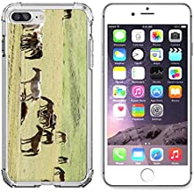 Luxlady Apple iPhone 6 Plus iPhone 6S Plus Clear case Soft TPU Rubber Silicone Bumper Snap Cases iPhone6 Plus iPhone6S Plus IMAGE ID 30719401 Horses in the mountains equine nag hoss hack dobbin a soli